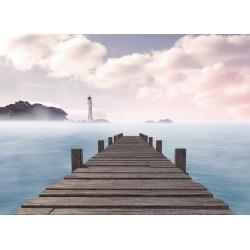 Drewniany pomost nad morzem...